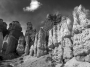 Hoodoos of Bryce Canyon National Park - BW